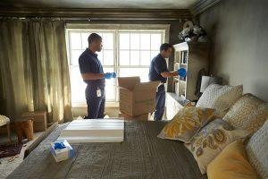 fire damage bedroom